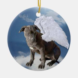 Charity's Law, Eagle's Den Rescue Angel Round Ceramic Ornament
