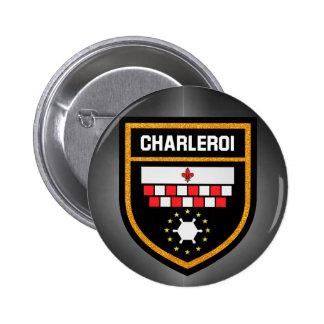 Charleroi Flag 2 Inch Round Button