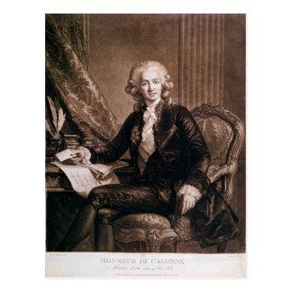 Charles Alexandre de Calonne Postcard