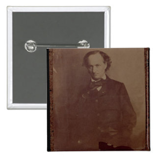 Charles Baudelaire (1820-1867), French poet, portr 2 Inch Square Button