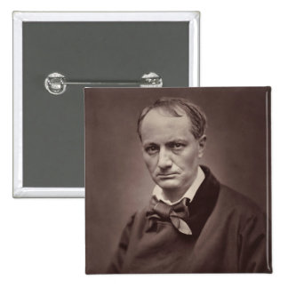 Charles Baudelaire 2 Inch Square Button
