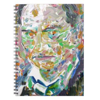 CHARLES BAUDELAIRE - oil portrait Spiral Notebook