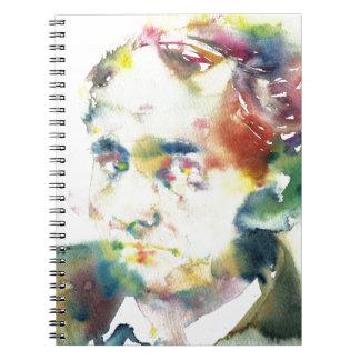 CHARLES BAUDELAIRE - watercolor portrait.1 Notebook