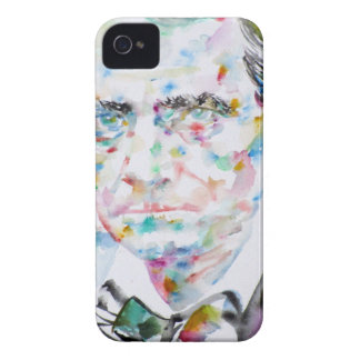 CHARLES BAUDELAIRE - watercolor portrait.2 iPhone 4 Case-Mate Case