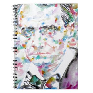 CHARLES BAUDELAIRE - watercolor portrait.2 Notebooks