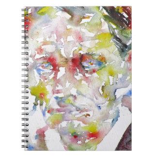 CHARLES BAUDELAIRE - watercolor portrait.3 Spiral Notebook