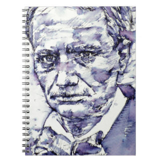 CHARLES BAUDELAIRE - watercolor portrait.4 Spiral Notebook