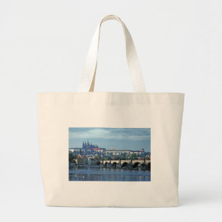 Charles Brdge Prague Castle Tom Wurl.jpg Large Tote Bag