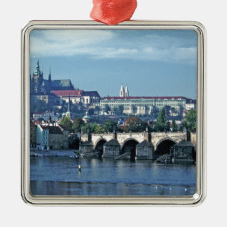 Charles Brdge Prague Castle Tom Wurl.jpg Metal Ornament