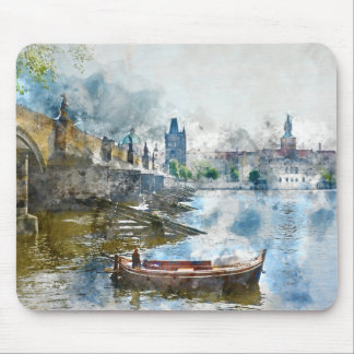 Charles Bridge in Prague Czech Rebulic Mouse Pad