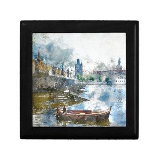 Charles Bridge in Prague Czech Republic Gift Box