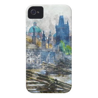 Charles Bridge in Prague Czech Republic iPhone 4 Cases