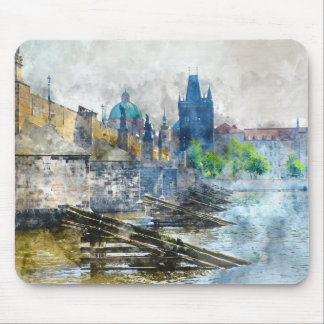 Charles Bridge in Prague Czech Republic Mouse Pad