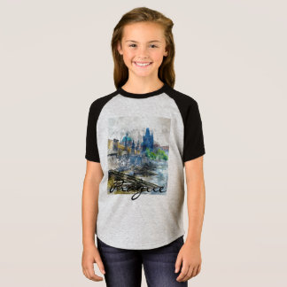 Charles Bridge in Prague Czech Republic T-Shirt