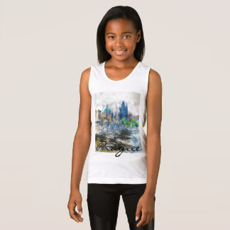 Charles Bridge in Prague Czech Republic Tank Top