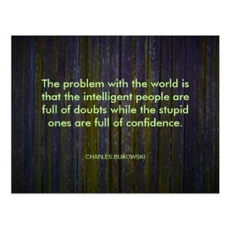 Charles Bukowski Quote Postcard
