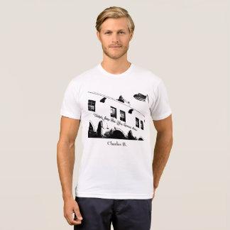 Charles Bukowski quote (white) T-Shirt