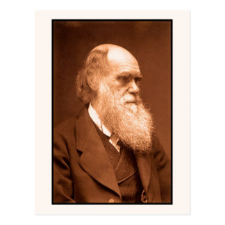 Charles Darwin around 1874 Postcard