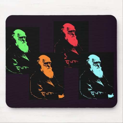 Charles Darwin Collage Mouse Pads