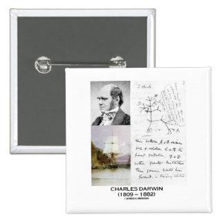 Charles Darwin (Darwin HMS Beagle Phylogenetics) 2 Inch Square Button