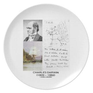 Charles Darwin (Darwin HMS Beagle Phylogenetics) Party Plates