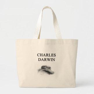 charles darwin large tote bag