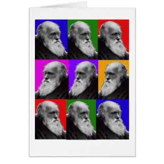 Charles Darwin Pop Art Gifts for All Ages Card