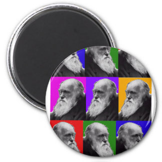 Charles Darwin  POP ART T-Shirt  and Gifts 2 Inch Round Magnet