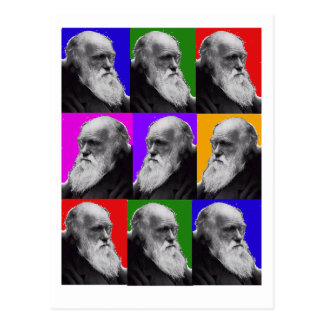 Charles Darwin  POP ART T-Shirt  and Gifts Postcard