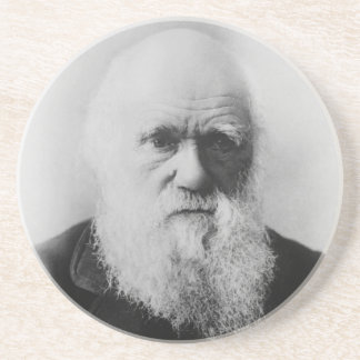 Charles Darwin Portrait by Elliott and Fry Coaster