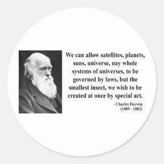 Charles Darwin Quote 4b Classic Round Sticker