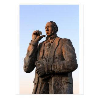 Charles Darwin statue Galapagos Islands Postcard