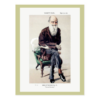 Charles Darwin Vanity Fair Illustration Postcard