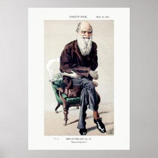 Charles Darwin Vanity Fair Illustration Poster