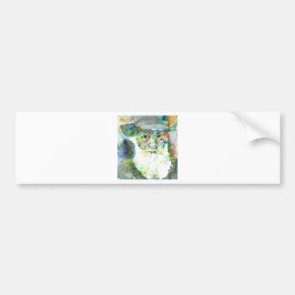 CHARLES DARWIN - watercolor portrait.2 Bumper Sticker