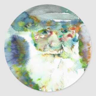 CHARLES DARWIN - watercolor portrait.2 Classic Round Sticker