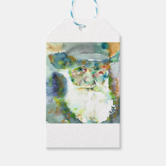 CHARLES DARWIN - watercolor portrait.2 Gift Tags