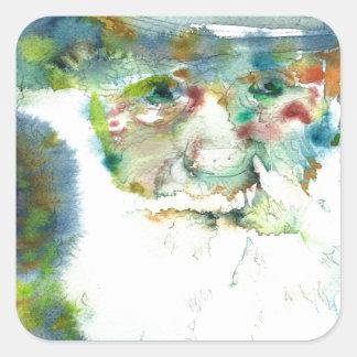 CHARLES DARWIN - watercolor portrait.2 Square Sticker