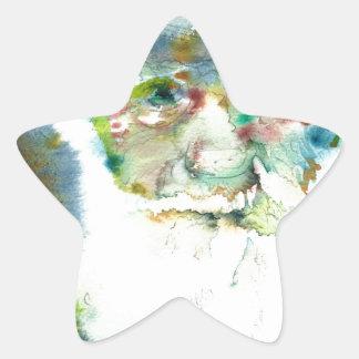 CHARLES DARWIN - watercolor portrait.2 Star Sticker