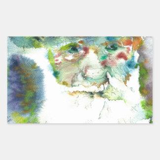 CHARLES DARWIN - watercolor portrait.2 Sticker