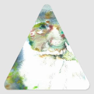 CHARLES DARWIN - watercolor portrait.2 Triangle Sticker