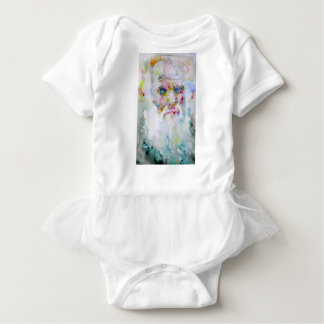 charles darwin - watercolor portrait baby bodysuit