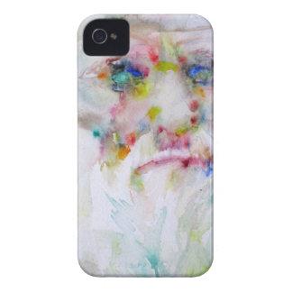 charles darwin - watercolor portrait iPhone 4 case