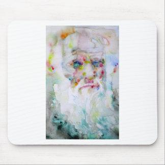 charles darwin - watercolor portrait mouse pad