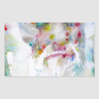 charles darwin - watercolor portrait sticker