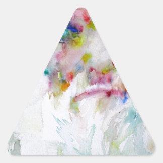 charles darwin - watercolor portrait triangle sticker
