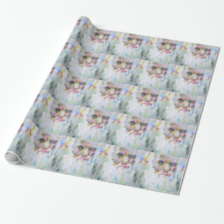 charles darwin - watercolor portrait wrapping paper