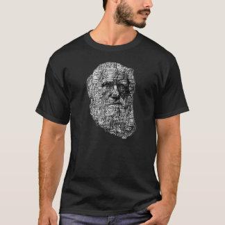 Charles Darwin Word Face T-Shirt