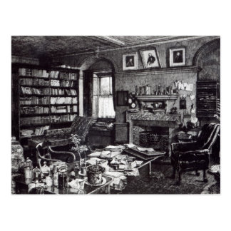 Charles Darwin's study at Down House, 1882 Postcard