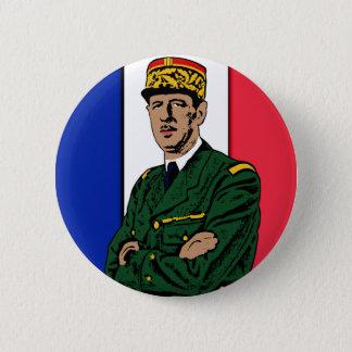 Charles de Gaulle 2 Inch Round Button